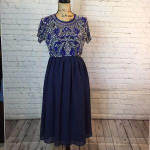 NWT  ASOS formal navy blue sequins maternity dress